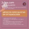 Médico especialista en oftalmología